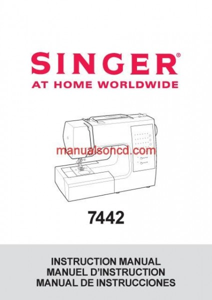 Singer 7442 Sewing Machine Instruction/Owners Manual Pdf