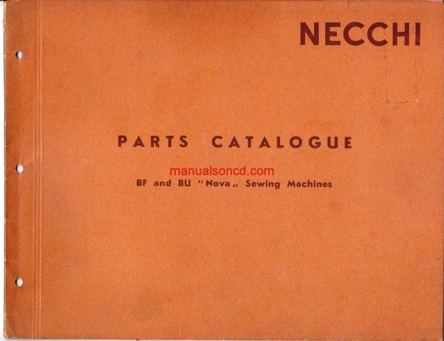 Necchi BF - BU Nova sewing machine parts catalogue manual on necchi bu mira belt, necchi bu mira ebay, necchi bu mira sewing machine,