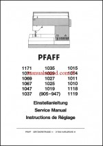 Pfaff Sewing Machine Service Manual 905 - 1171