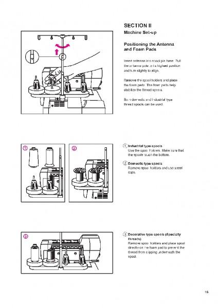 Elna 683 686 Overlock Sewing Machine Instruction/Owners Manual
