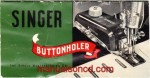 Singer Buttonholer Instruction Manual for No. 160506
