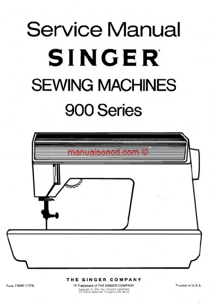 Singer 900 Service And Repair Sewing Machine Manual Series