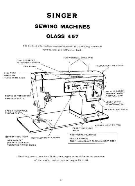 singer 400 series service and repair sewing machine manual