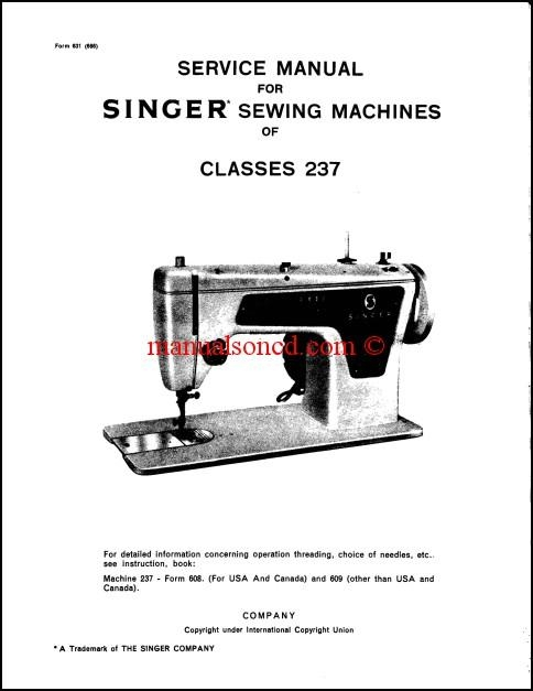 Singer 40 Sewing Machine Service Manual Download Mesmerizing Singer Sewing Machine Company