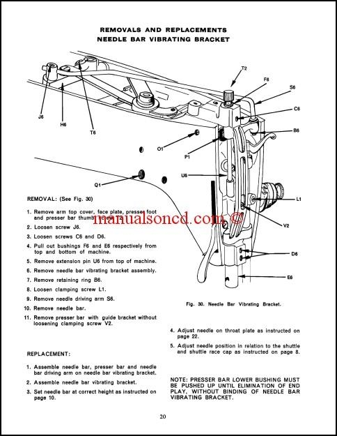 Singer  Sewing Machine Service Manual Download