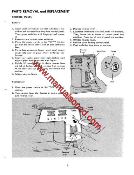 Singer 750 Sewing Machine Service Manual Repairs Parts Lists