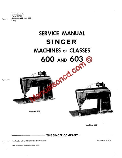 Singer touch and sew 600e manual.