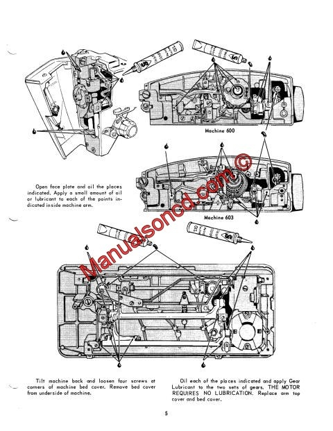 Professional full edition service manual for singer 600 and 603.