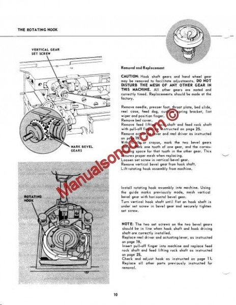 Singer 600-603 Service And Repair Manual