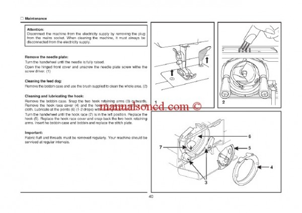 Singer 8280 Sewing Machine Instruction Manual