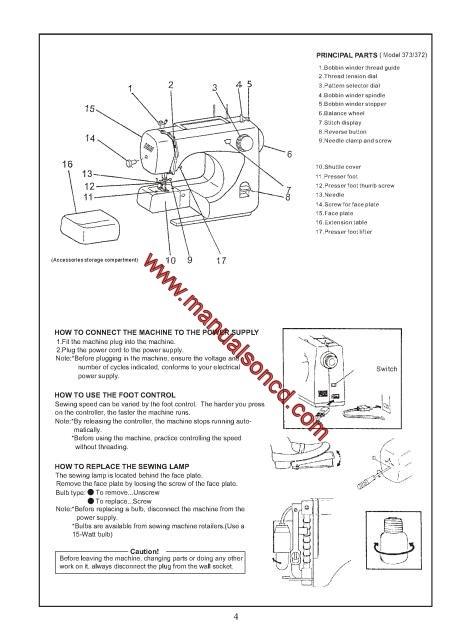 Europro 40 40 40 40 Sewing Machine Instruction Manual Magnificent Europro Sewing Machine Manual