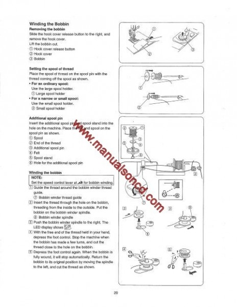 Janome Sears 8080 Sewing Machine Instruction Manual 385.8080