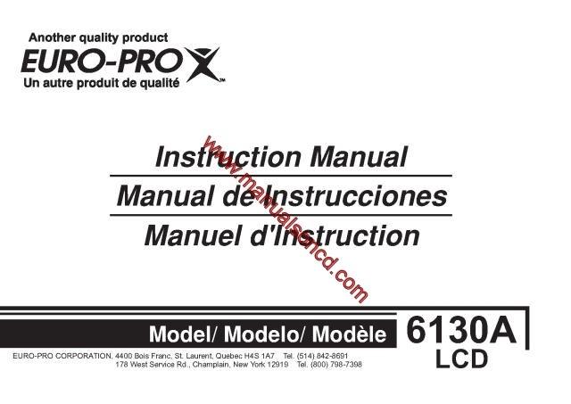 Euro Pro 40A40 Sewing Machine Instruction Manual Mesmerizing Europro Sewing Machine Manual